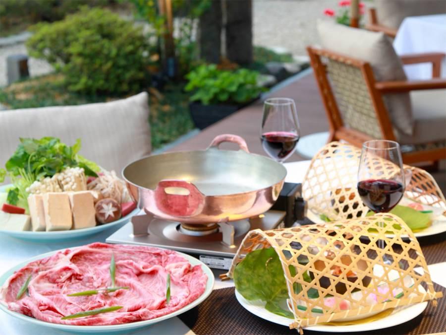 【1日3組限定】テラスde近江牛すき焼きディナー