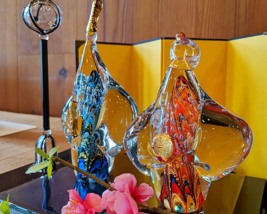 |彦根お天気ブログ| ガラスのお雛様展