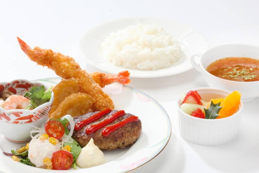近江牛の煮込みハンバーグのお子様ランチ「みのり」 ¥2,500(税サ込)