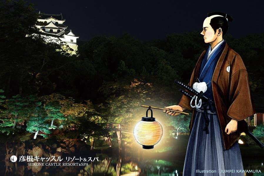 本日より観月の夕べ 2019  ー玄宮園から名月と名城を愉しむ秋の夜ー