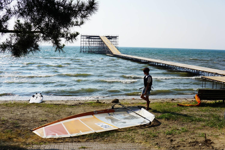 琵琶湖 松原海岸で「鳥人間コンテスト」!