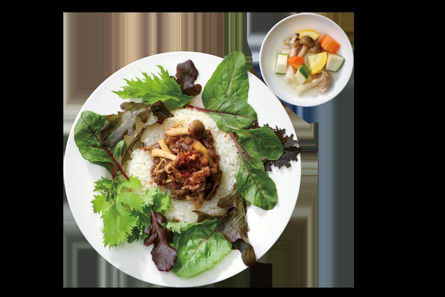 近江牛スライスビーフと茸のおろし丼 イメージ写真